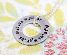 Double Coordinate Washer Necklace