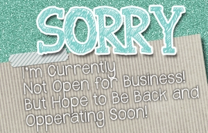 Sorry We're Closed at the Moment...